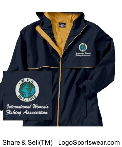 Adult New Englander Rain Jacket Design Zoom