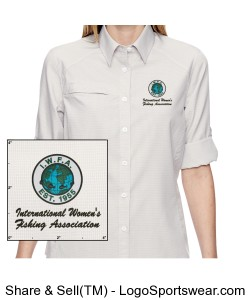 Ladies Excursion Textured Performance Shirt Design Zoom