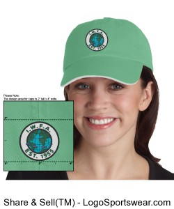 Ladies Sandwich Bill Cap with Striped Closure Design Zoom